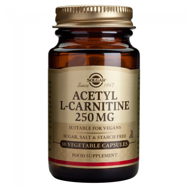 Solgar Acetyl-L-Carnitine 250mg Veg.Caps 30