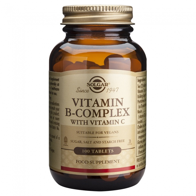 Solgar Vitamin B Complex With C 100tabs