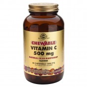 Solgar Chewable Vitamin C 500mg Raspberry Flavour 90tabs