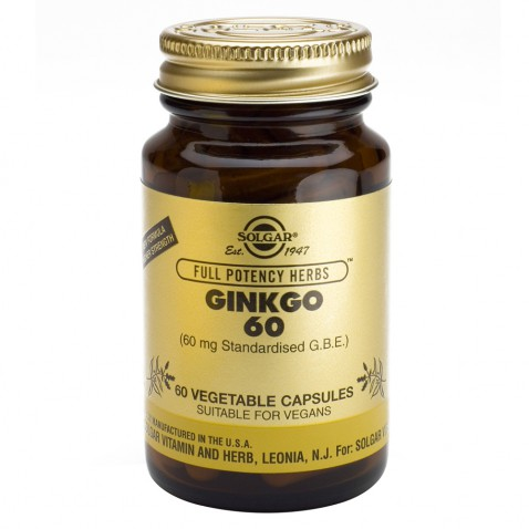 Solgar Ginkgo Biloba 60 Veg. Caps αρχική   βιταμινεσ συμπληρωματα   βοτανα   ginkgo biloba   τζίνγκο μπιλόμπα