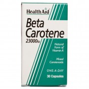 Health Aid Beta-Carotene Natural 15mg Capsules 30