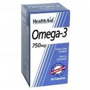 Health Aid Omega 3 750mg (Epa 425mg DHA 325mg) Capsules 60