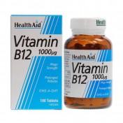 Health Aid Vitamin B12 (Cyanocobalamin) 1000μg Prolonged Release 100tabs