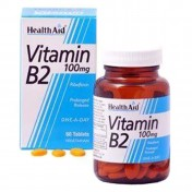 Health Aid Vitamin B2 (Riboflavin) 100mg Tablets 60