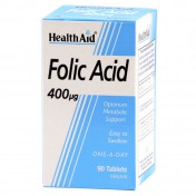 Health Aid Folic Acid 400μg Tablets 90