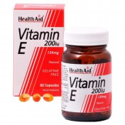 Health Aid Vitamin E 200iu Natural Vegetarian Capsules 60