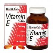 Health Aid Vitamin E 600iu Natural Capsules 60