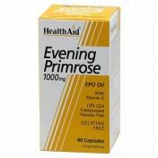 Health Aid Evening Primrose Oil 1000mg + Vitamin E Vegetarian Capsules 30
