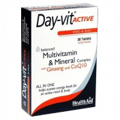 Health Aid Day-Vit Active Co-Q-10 & Ginseng 30tabs