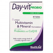 Health Aid Day-Vit Probio 2billion Probiotic & Coq10 30tabs