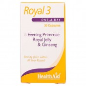 Health Aid Royal +3 (Royal Jelly + E.P.O. + Korean Ginseng) Capsules 30