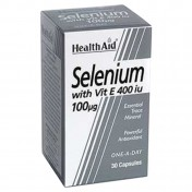 Health Aid Selenium 100μg with Vitamin E 400iu Capsules 30