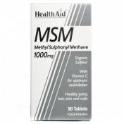 Health Aid MSM 1000mg Vegetarian Tablets 90