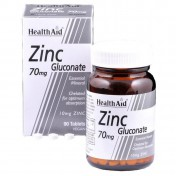 Health Aid Zinc Gluconate 70mg (10mg Elemental Zinc) Tablets 90