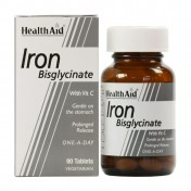 Health Aid Iron Bisglycinate (Iron With Vitamin C) Tablets 30