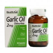Health Aid Garlic Oil 2mg Odorless Vegetarian Capsules 30