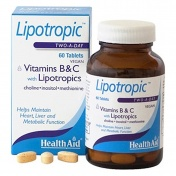 Health Aid Lipotropic With Vitamins B & C And Lipotropics 60 Vegan Tablets