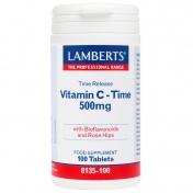 Lamberts Vitamin C 500mg Time Release tabs 100