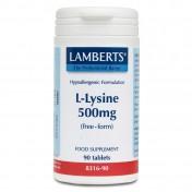 Lamberts L-Lysine 500mg 90tabs