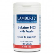 Lamberts Betaine HCL 324mg Pepsin 180tabs