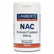 Lamberts N-Acetyl Cysteine NAC 600mg 90caps