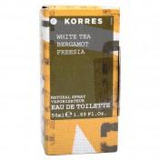 Korres Γυναικείο Άρωμα White Tea Bergamot Freesia 50ml