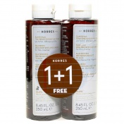 Korres Σαμπουάν Για Λεπτά Αδύναμα Μαλλιά Με Πρωτεΐνες Ρυζιού Και Τίλιο 250ml 1+1 ΔΩΡΟ