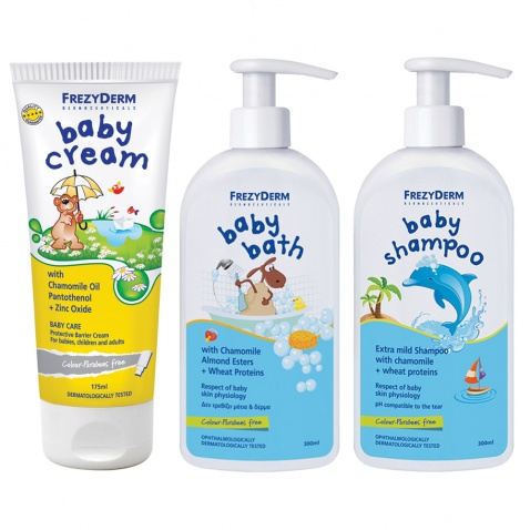 Frezyderm Πακέτο Baby Cream 175ml + Baby Bath 300ml + Baby Shampoo 300ml