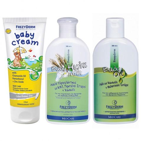 Frezyderm Πακέτο Baby Cream 175ml + Baby Hydra Milk 200ml + Baby Oil 200ml