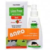 Frezyderm Lice Free Set (Shampoo 125ml + Lotion 125ml) & ΔΩΡΟ Lice Rep Spray Extreme 80ml