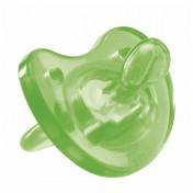 Chicco Πιπίλα Όλο Σιλικόνη Physio Soft Πράσινη 12m+
