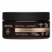 Apivita Royal Honey Scrub Σώματος Με Θαλάσσια Άλατα 200gr