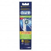 Oral B Ανταλλακτικά Cross Action 3+1τμχ ΔΩΡΟ