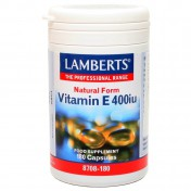 Lamberts Vitamin E 400iu Natural Form 180caps