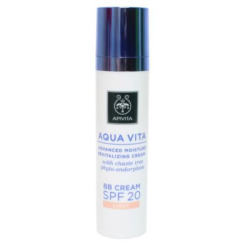 Apivita Aqua Vita BB Cream Light Spf20 40ml αρχική   καλλυντικα   περιποιηση προσωπου   κρέμες ββ   cc