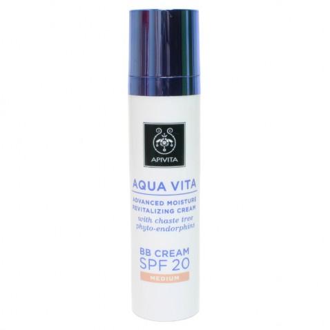 Apivita Aqua Vita BB Cream Medium Spf20 40ml αρχική   καλλυντικα   περιποιηση προσωπου   κρέμες ββ   cc