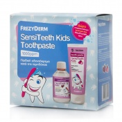 Frezyderm Promo Pack SensiTeeth Kids Toothpaste 6+ age 1000ppm 50ml & ΔΩΡΟ SensiTeeth Kids Mouthwash 100ml
