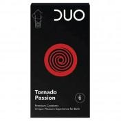 Duo Tornado Passion Με Ραβδώσεις 6 Τεμαχίων