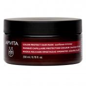 Apivita Color Protect Hair Mask Με Ηλίανθο Και Μέλι 200ml