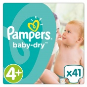 Pampers Baby Dry Maxi Plus No4+ (9-20kg) 41packs