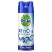Dettol All-in-One Crisp Linen Απολυμαντικό Spray 400ml