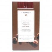 Korres Argan Oil Advanced Colorant N 5.6 Καστανό Ανοιχτό Κόκκινο