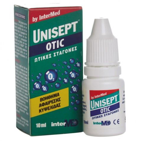Unisept Otic Drops 10ml αρχική   προσωπικη φροντιδα   αυτια   μυτη   ροχαλητο   καθαριστικά αυτιών