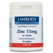 Lamberts Zinc 15mg Citrate 90tabs