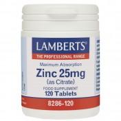 Lamberts Zinc 25mg Citrate 120tabs
