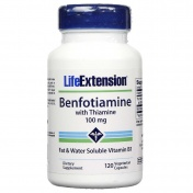 Life Extension Benfotiamine with Thiamine 100mg 120  Veg.Caps