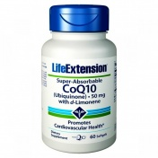 Life Extension Super Absorbable Coenzyme Q10 50mg 60 softgels
