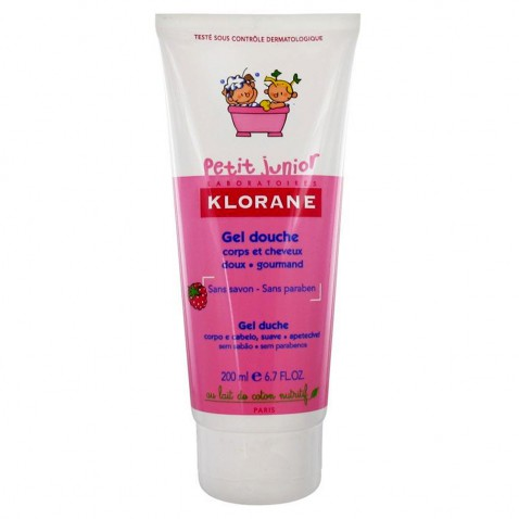 Klorane Petit Junior Gel Douche Shampoo Framboise 200ml