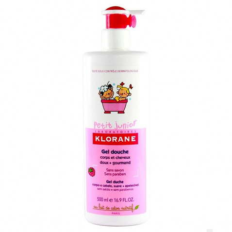Klorane Petit Junior Gel Douche Shampoo Framboise 500ml