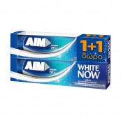 Aim Οδοντόκρεμα White Now 75ml 1+1 ΔΩΡΟ